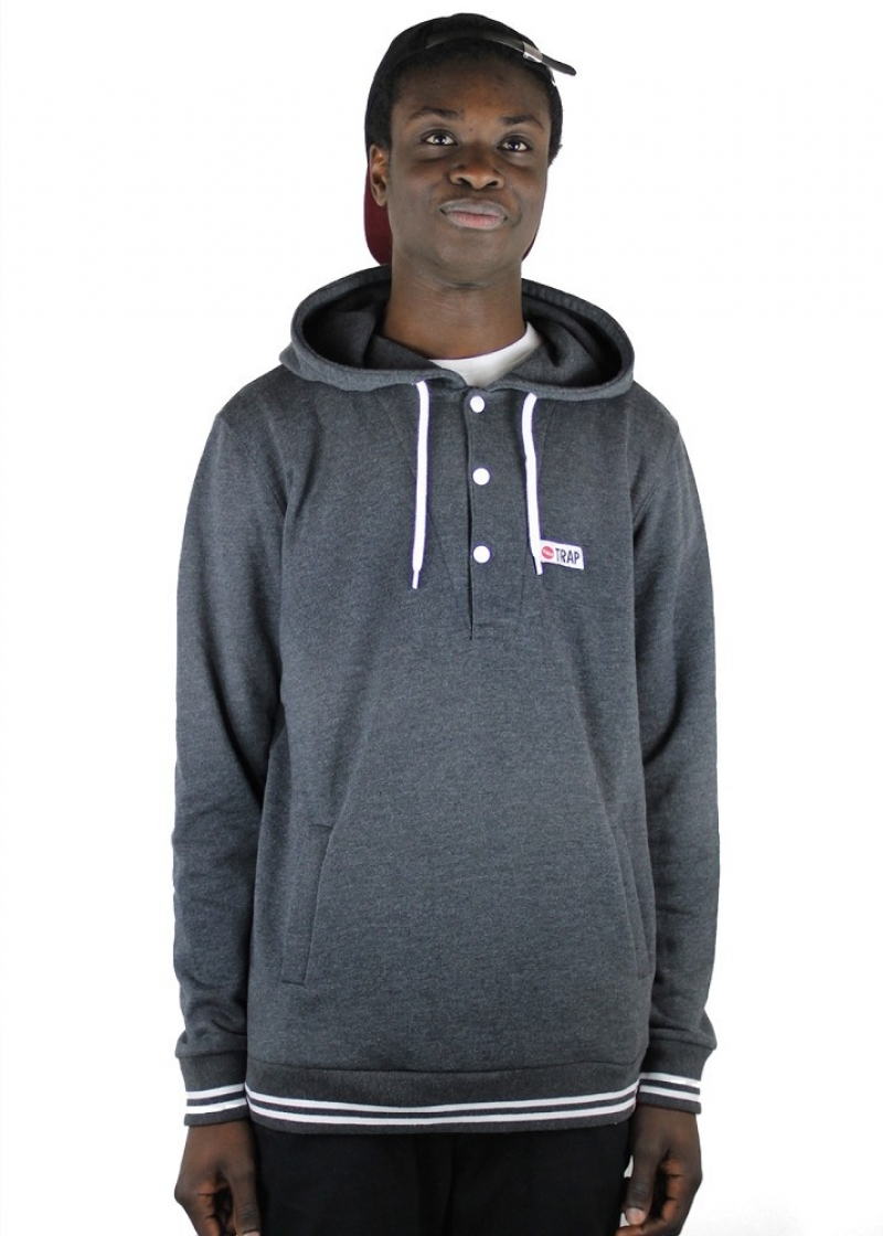 TRAP Dave 2013 Hoodie - HEATHER GREY