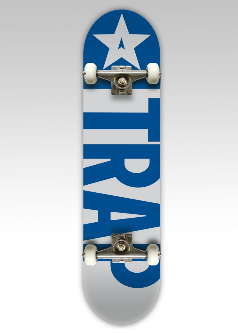 Trap Komplettboard Big Flag grey blue 8 Inch