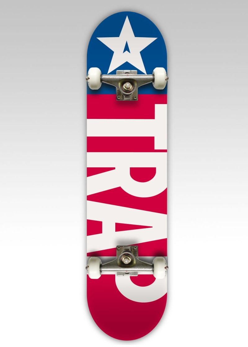 Trap Komplettboard Big Flag Red Blue